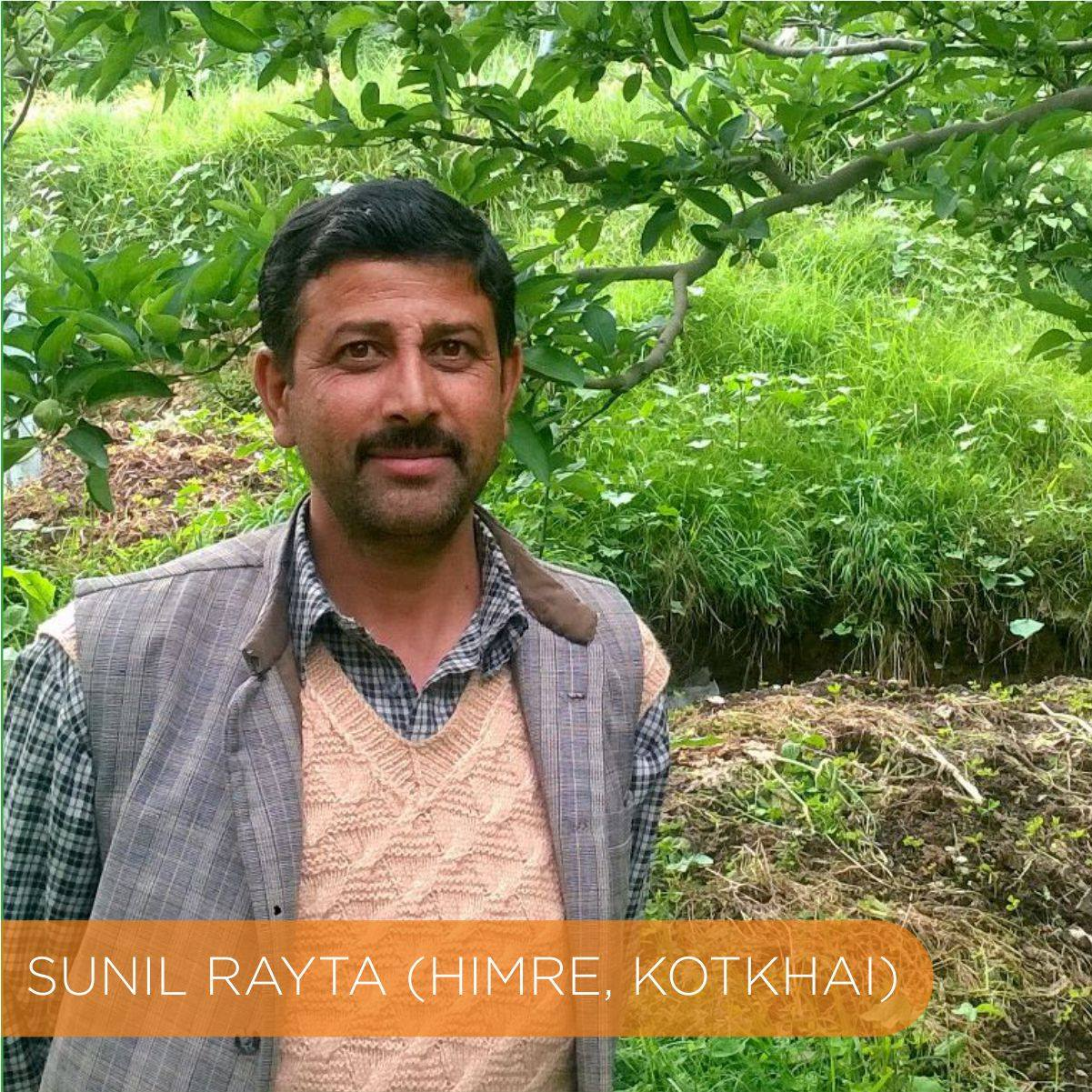 Apple farmer Sunil Ratya